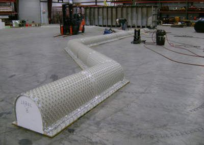 Radius Bottom Polypropylene CPL Trenches for Fertilizer Plant