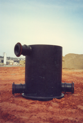 HDPE Manhole with outlets