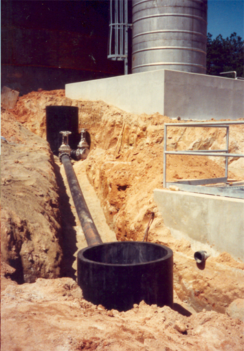 HDPE Manhole at Pipe