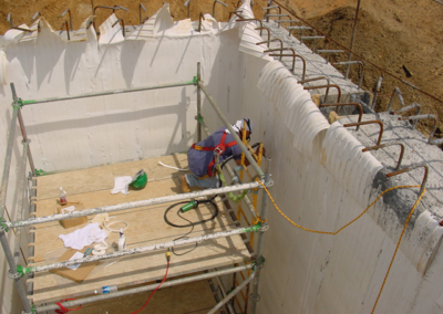 Field Welding PVC Lining for Municipal Wastewater Plant