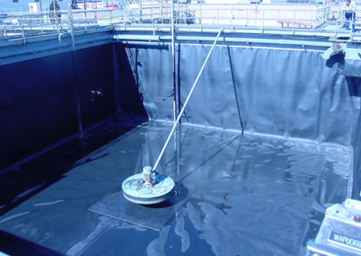 HDPE Loose Liner for Bottled Drink Manufacturer's Wastewater Treatment Tanks
